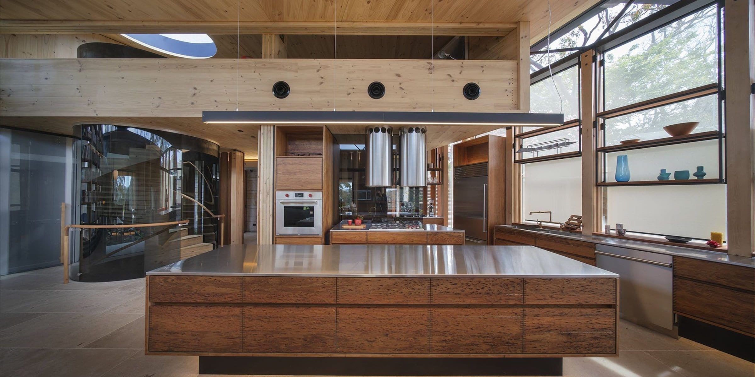 Blackwood shines and shows off its rich character in the Seed House kitchen