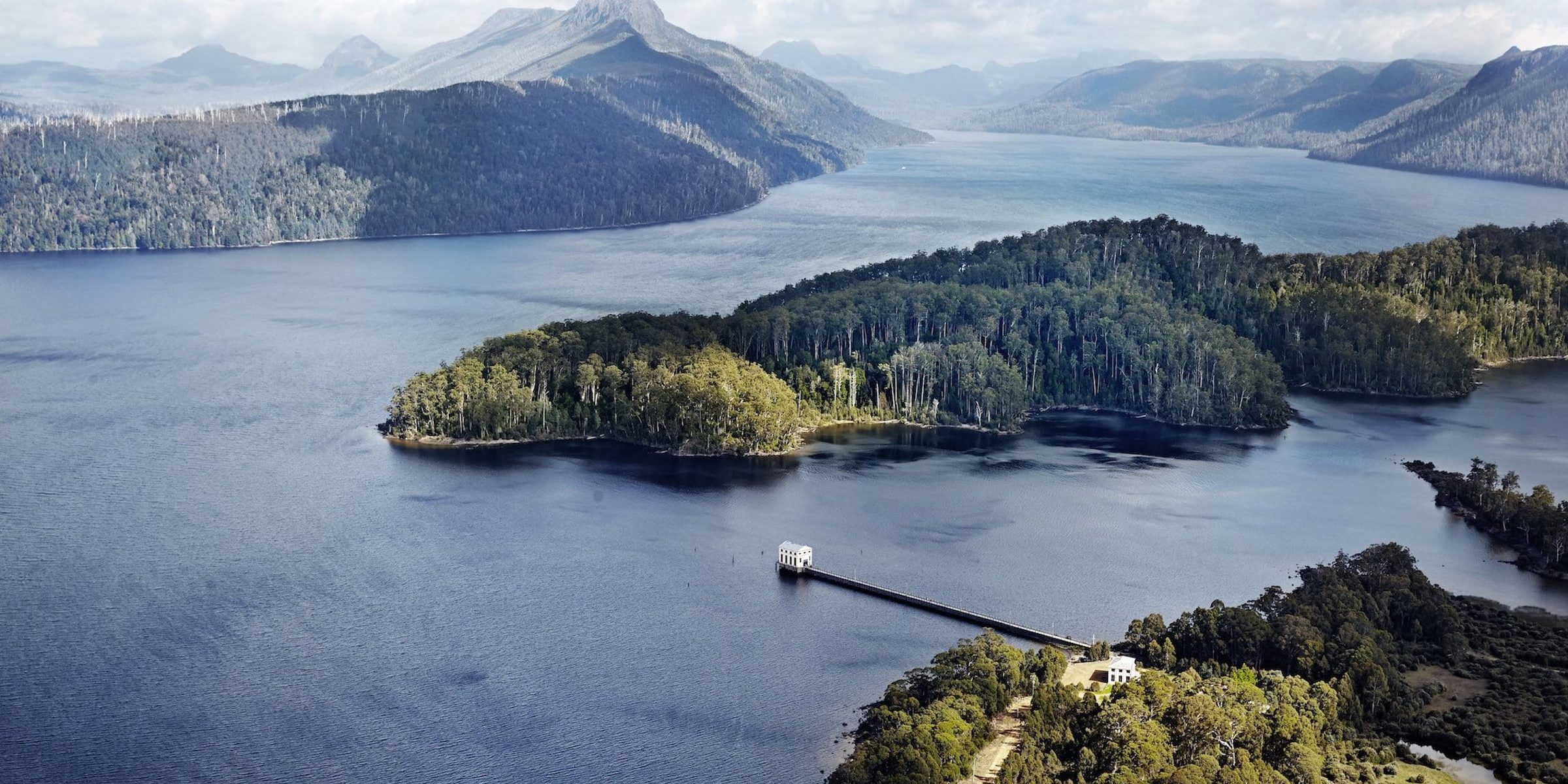 Pumphouse Point in the Lake St Clair National Park