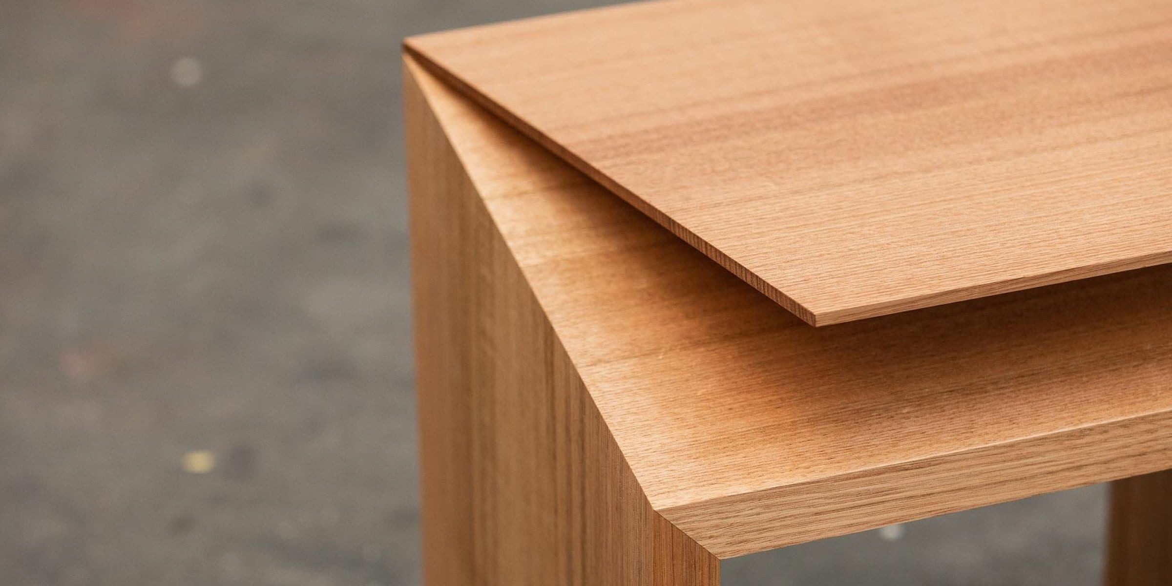 Tasmanian Oak stool by Simon Ancher Studio
